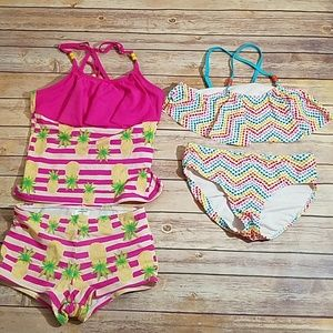 Lands End 2 girls swimsuits